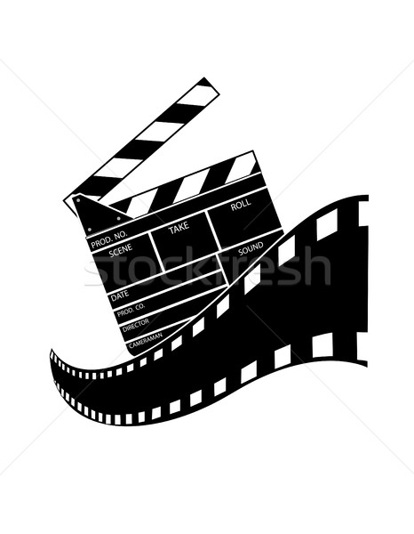 Isolado branco arte teia filme cinema Foto stock © nezezon