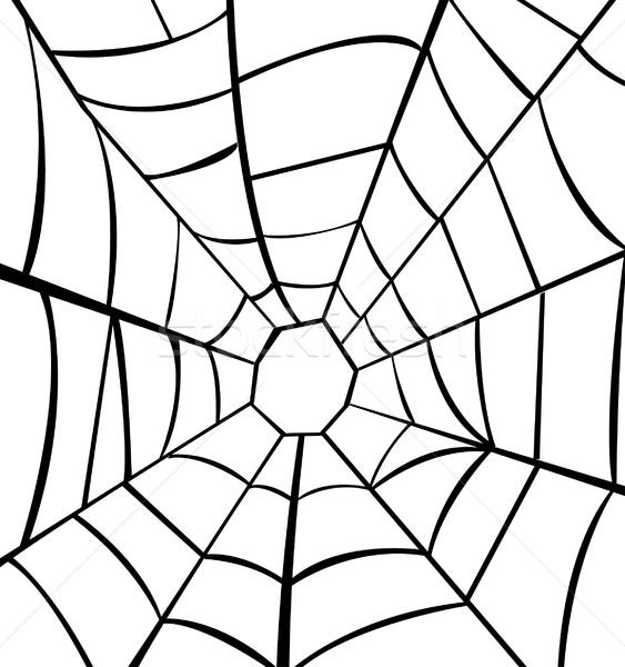 Vector illustration of cobweb  Stock photo © nezezon