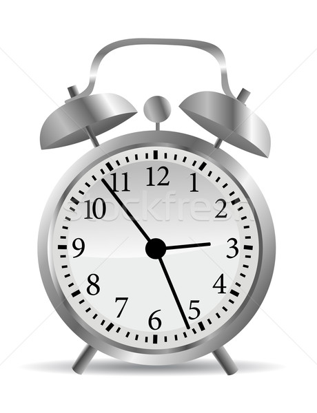 Clock vector illustration Stock photo © nezezon