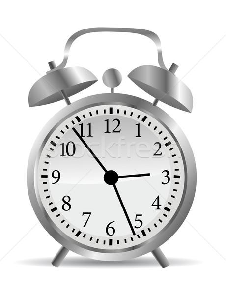 Stockfoto: Klok · kantoor · Rood · snelheid · horloge · witte