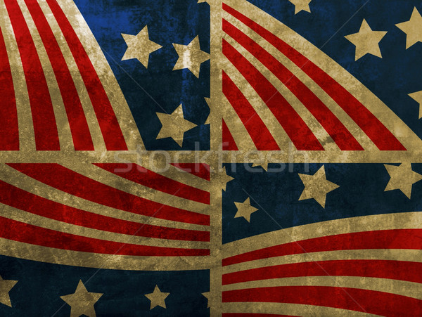 Grunge USA zászló háttér keret csillag Stock fotó © nezezon