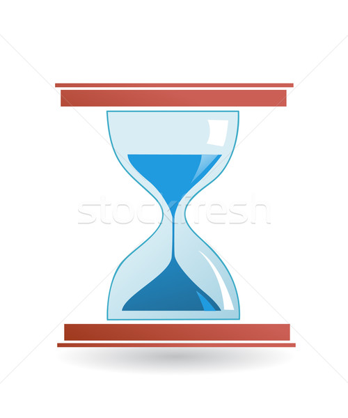 Hourglass vector icon  Stock photo © nezezon