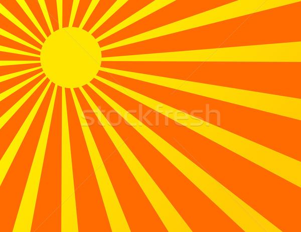 Sun Sunburst Pattern Stock photo © nezezon