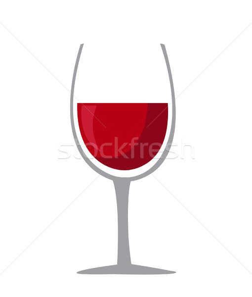 рюмку икона вино дизайна фон ресторан Сток-фото © nezezon