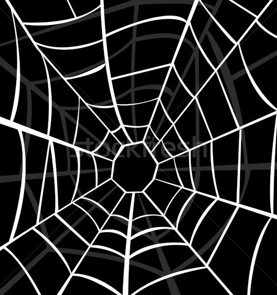 Spinneweb achtergrond kunst web spin witte Stockfoto © nezezon