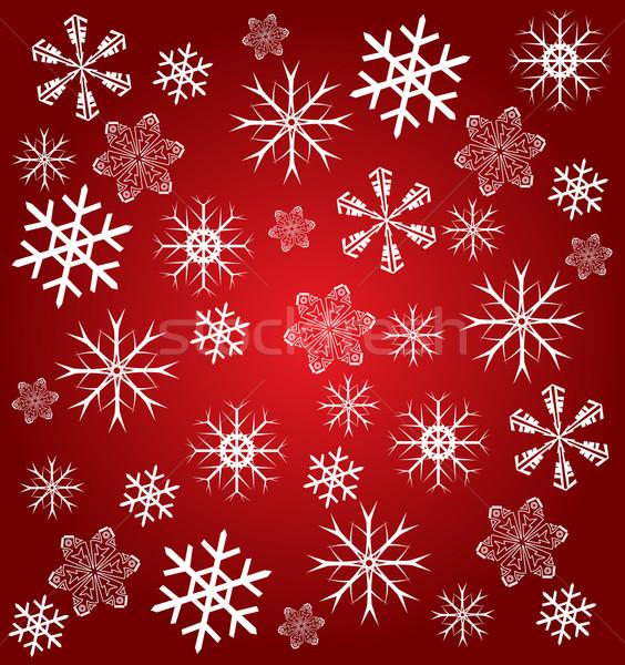 Fiocchi di neve design segno silhouette bianco vacanze Foto d'archivio © nezezon