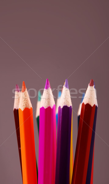 colored pencils Stock photo © nezezon