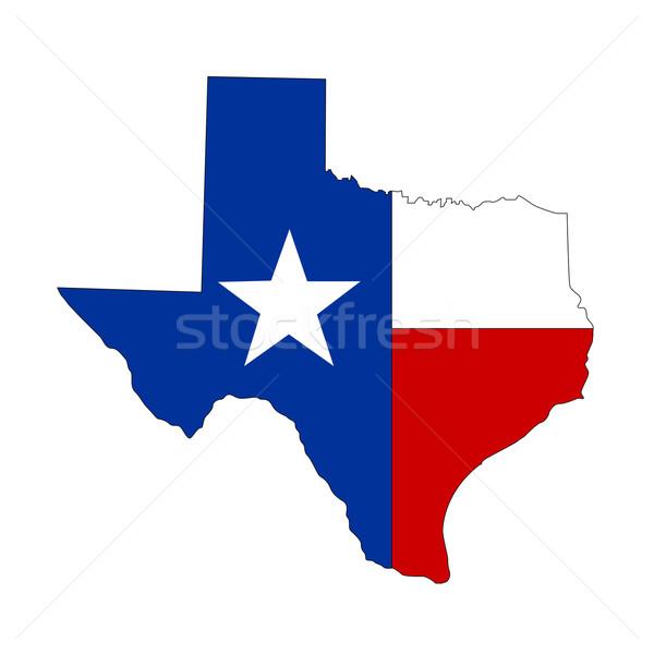 テクスチャ テキサス州 アイコン インターネット フレーム フラグ ストックフォト © nezezon