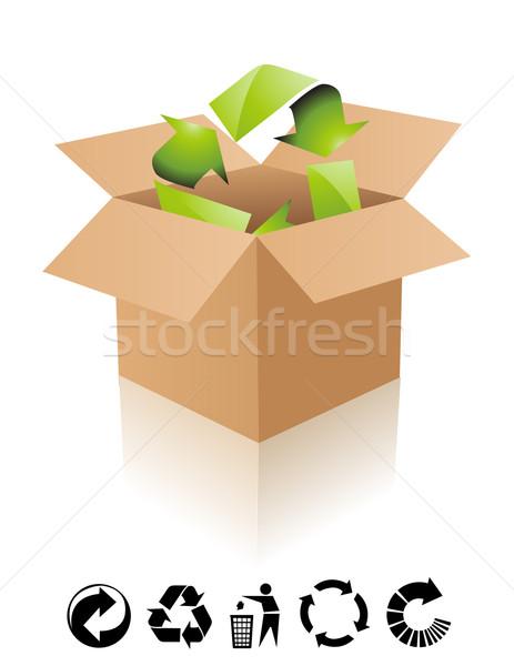 Vektor újrahasznosít felirat természet újrahasznosítás mozgás Stock fotó © nezezon