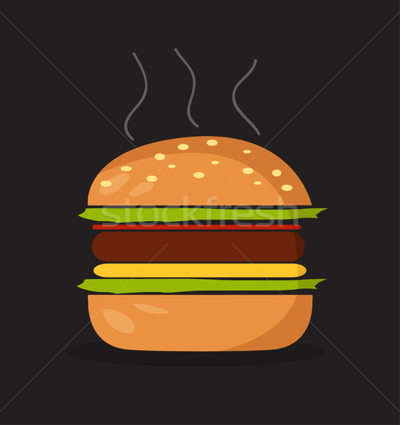 Hamburger symbol Stock photo © nezezon