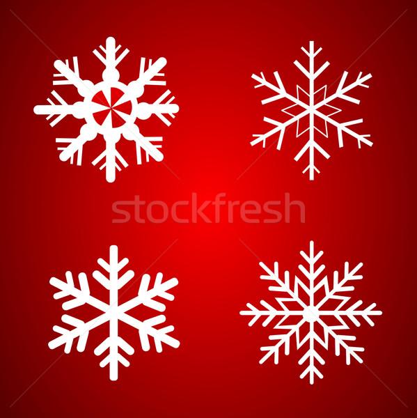 Vettore fiocchi di neve set Natale design natura Foto d'archivio © nezezon