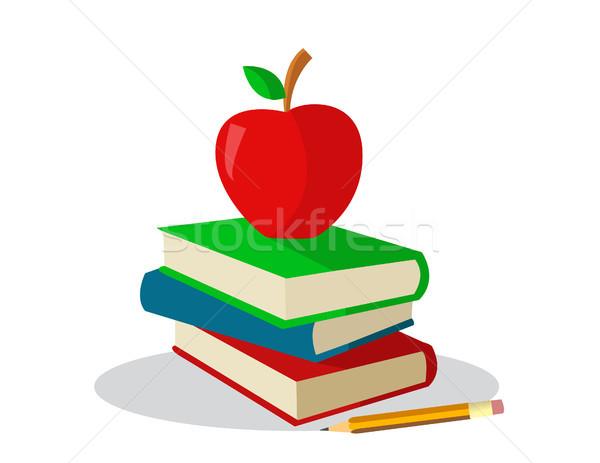 colored books for school  Stock photo © nezezon