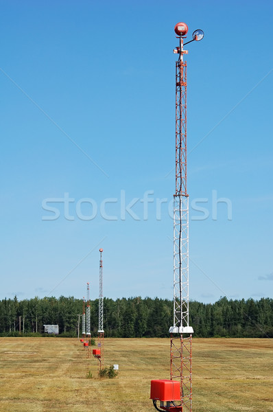 аэропорту фары свет башни бизнеса небе Сток-фото © nialat