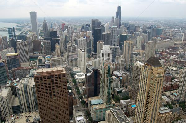 Chicago ver olhando sul topo arranha-céu Foto stock © nialat