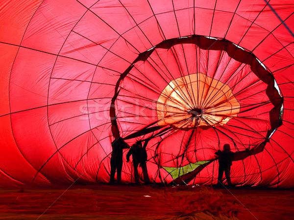 воздушном шаре мнение внутри красный цвета конверт Сток-фото © nialat