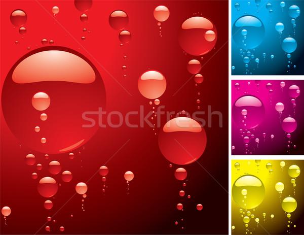 Bolha variação diferente cor abstrato azul Foto stock © nicemonkey