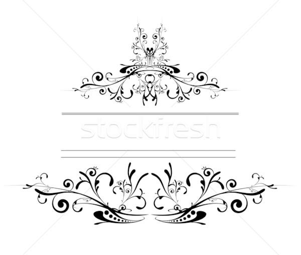 Famosos Floral · logotipo · escudo · tatuagem · estilo · preto · e  YL21