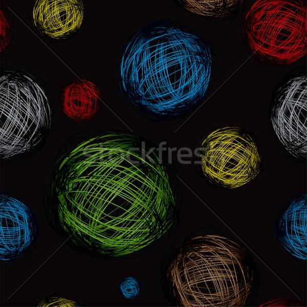 scribble ball color black Stock photo © nicemonkey
