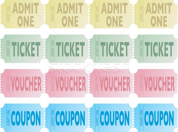 ticket row Stock photo © nicemonkey