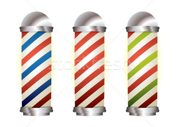 Sammlung Pol unterschiedlich Streifen Silber Elemente Stock foto © nicemonkey
