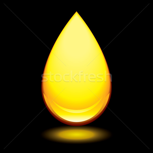 amber droplet black Stock photo © nicemonkey