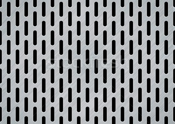 brushed metal oblong Stock photo © nicemonkey