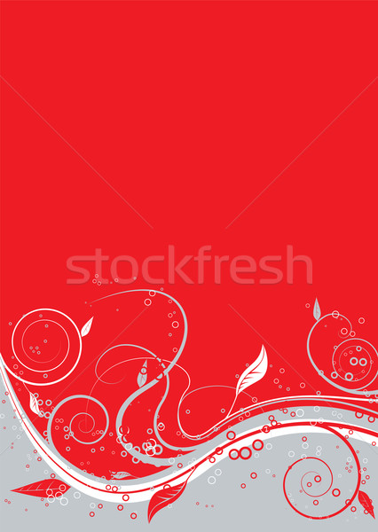 floral twist red Stock photo © nicemonkey