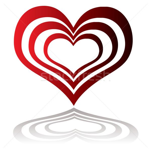 heart insert red Stock photo © nicemonkey