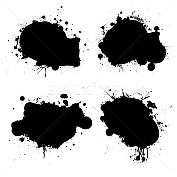 rounded ink splat black Stock photo © nicemonkey