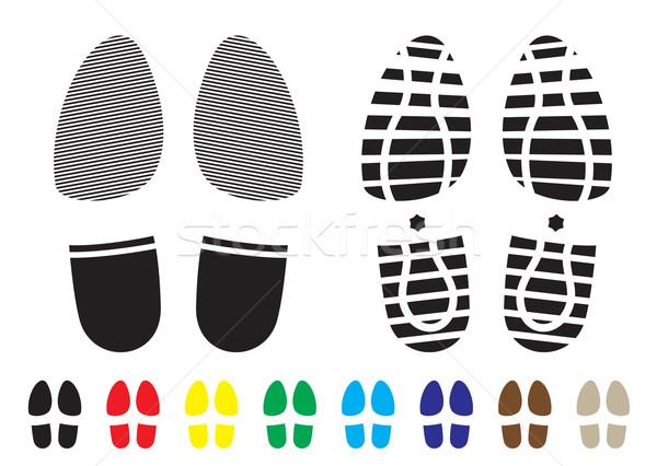 Cipő minta nyomtatott skicc sablon minták Stock fotó © nicemonkey