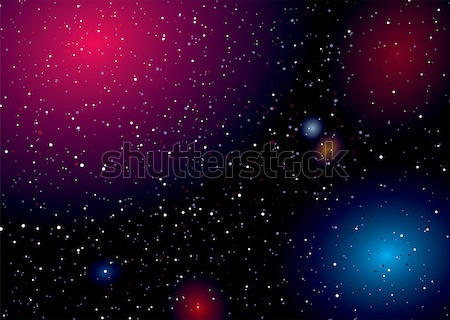 Space landscape rainbow Stock photo © nicemonkey