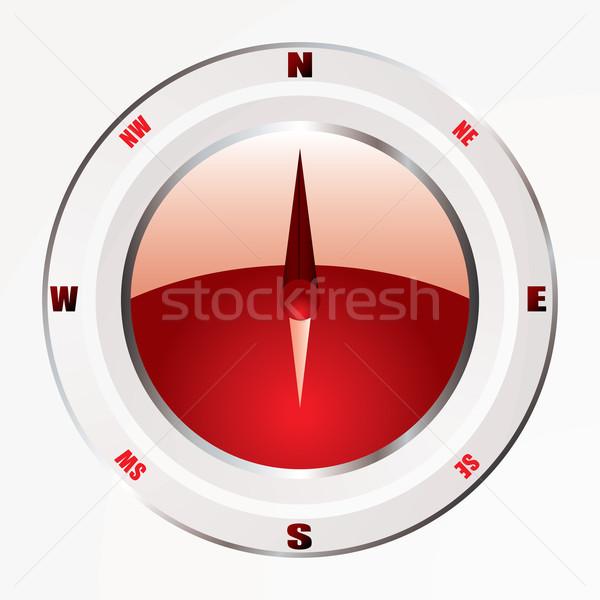 modern red compass Stock photo © nicemonkey
