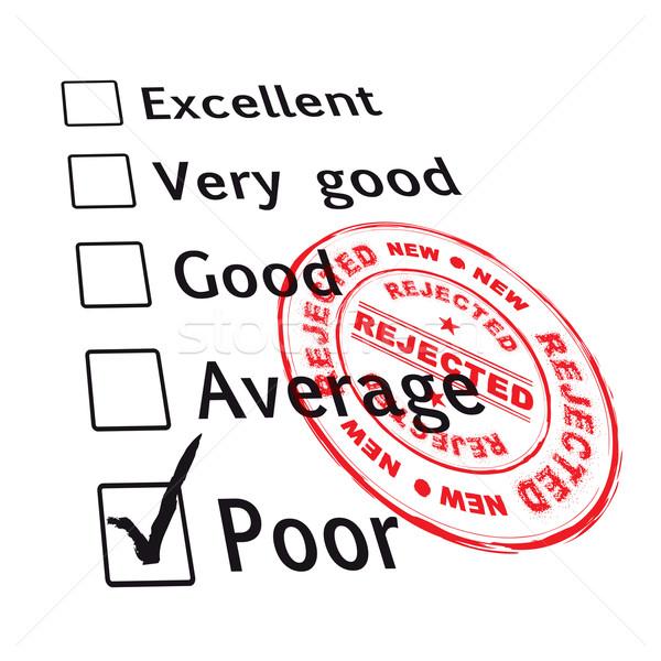 poor evaluation failed Stock photo © nicemonkey