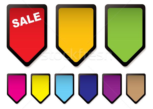 price tag icons black Stock photo © nicemonkey