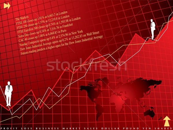 Stock photo: financial background red