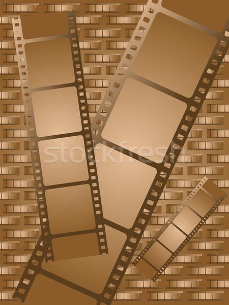 Oude bruin film kan gebruikt film Stockfoto © nicemonkey