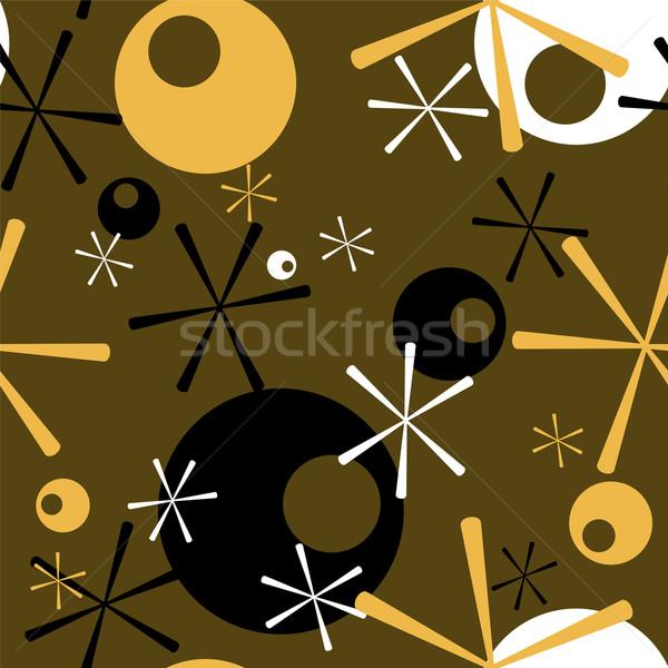 Retro abstract settanta wallpaper come Foto d'archivio © nicemonkey