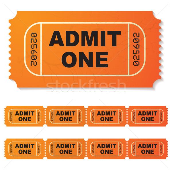 admit one ticket Stock photo © nicemonkey