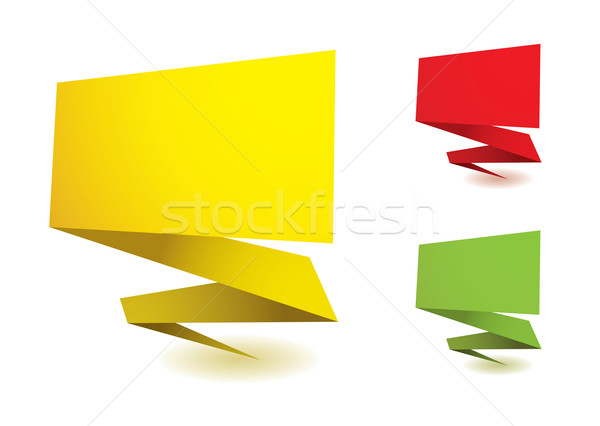 Origami elements Stock photo © nicemonkey