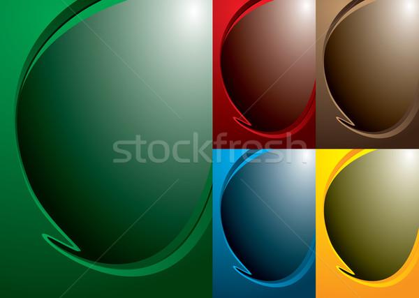Variação cinco cor abstrato azul papel de parede Foto stock © nicemonkey