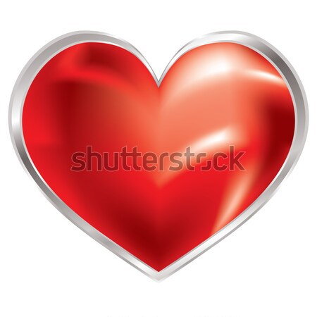 love heart shimmer silver Stock photo © nicemonkey