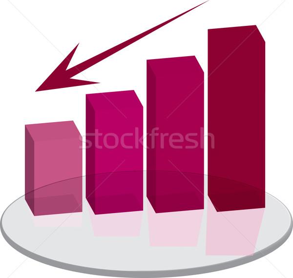 Vendite rosso giù arrow grafico Foto d'archivio © nicemonkey
