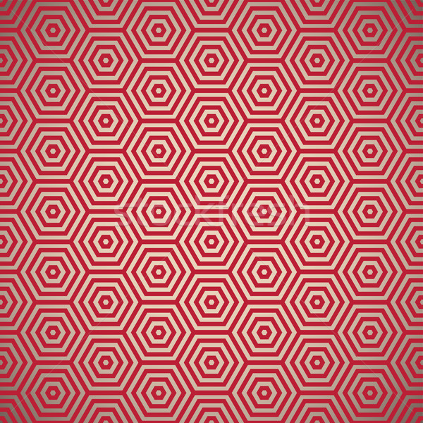 Retro settanta rosso pattern design Foto d'archivio © nicemonkey