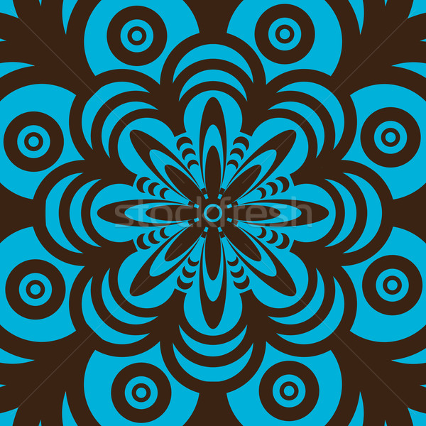 Stockfoto: Retro · behang · ontwerp · Blauw · bruin · abstract