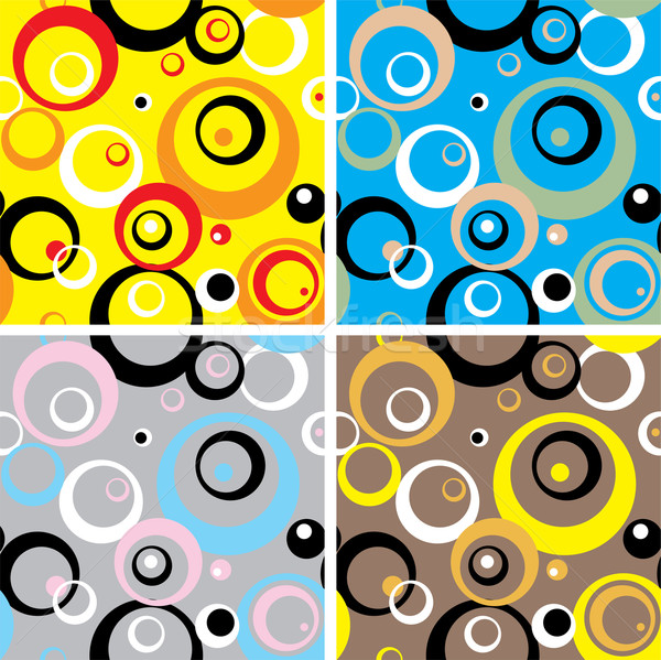 Yetmişli circles duvar kağıdı dizayn dört farklı Stok fotoğraf © nicemonkey