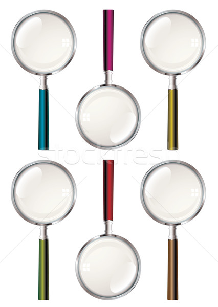 Magnifying glass collection Stock photo © nicemonkey