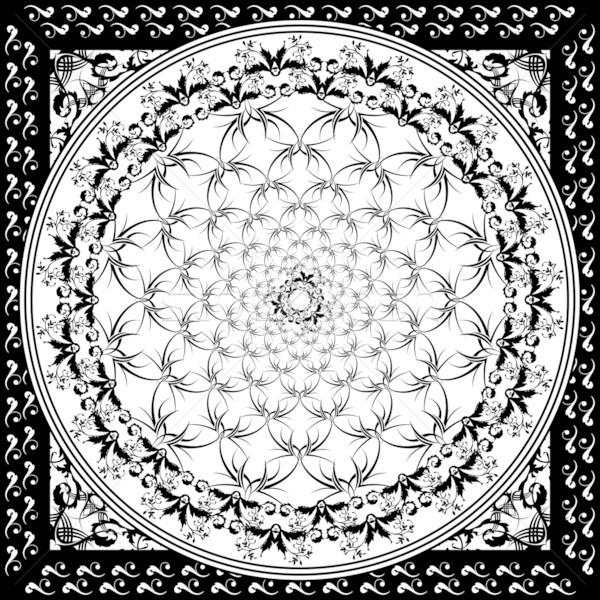 black and white tile Stock photo © nicemonkey