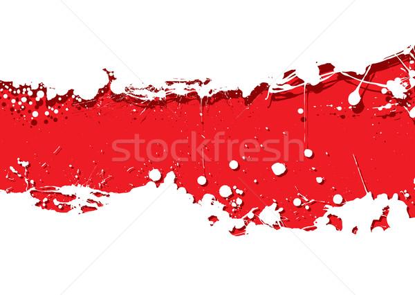 grunge strip background red splat Stock photo © nicemonkey