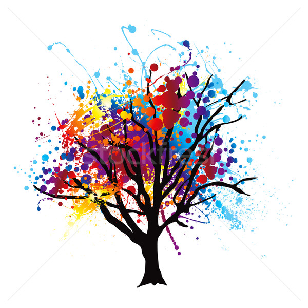 Paint splat tree Stock photo © nicemonkey