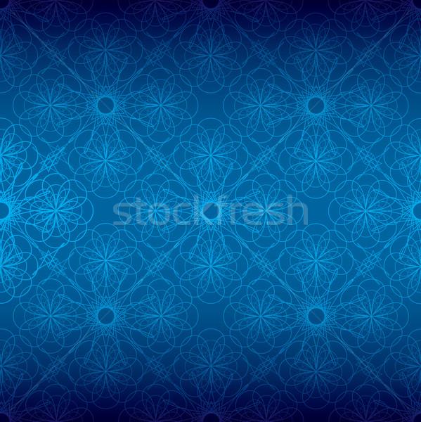 синий цветочный спиральных различный Blues бесшовный Сток-фото © nicemonkey